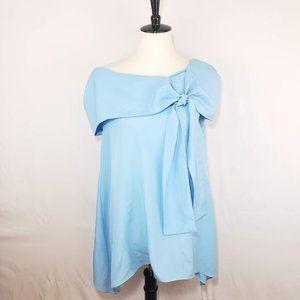 ♦️5/$20 Chris Benz Blue Chiffon Handerchief Dress